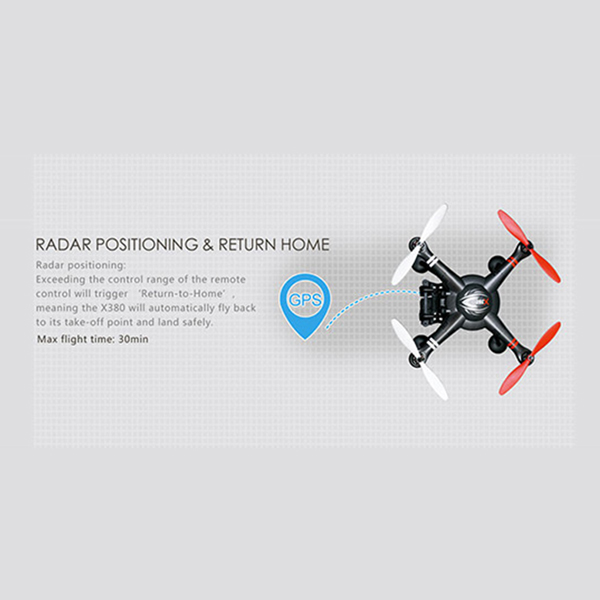 Wltoys UK Professional RC Drones Quadcopter XK X380 Black GPS  With Camera shock absorption