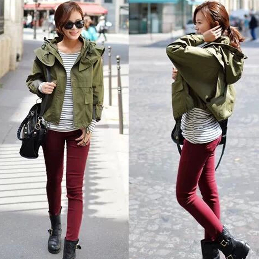2016 Autumn Spring new style hooded rope woman long sleeve pocket pure color over size coat