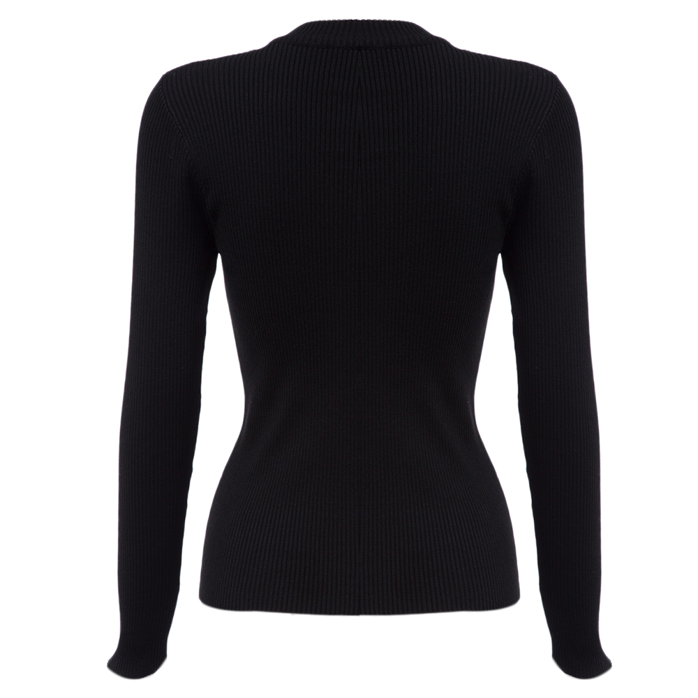 Black Woman sweater tops new fashion casual style cardigan womens ...
