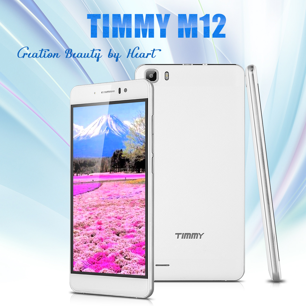 5 5'' TIMMY M12 IPS 3G Smartphone Android 5 1 MTK6580 1 3GHz Quad Core  Mobile Phone Dual SIM 1GB RAM 8GB ROM Cellphone Smart Wake Air Gesture White