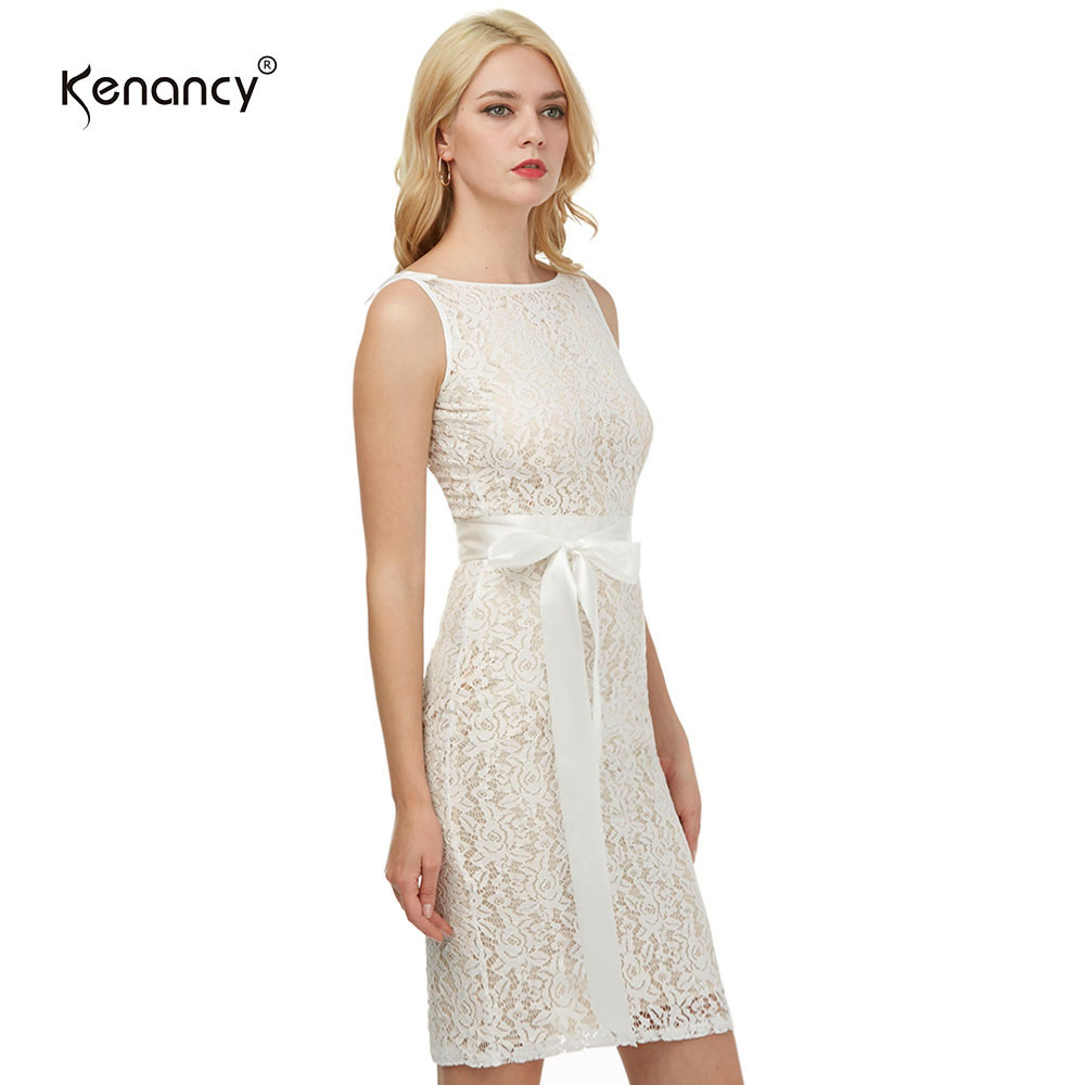 Champagne Kenancy Womens Sexy Lace Sheath Bodycon Dress