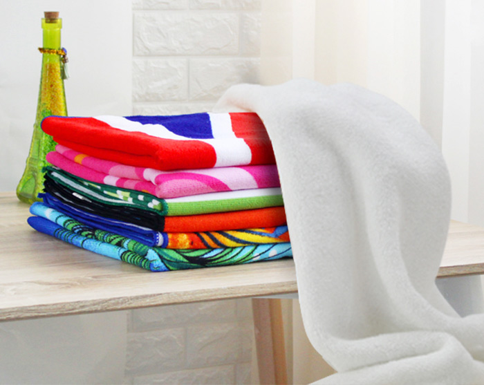 Striped Pattern Rectangle Bath Towel