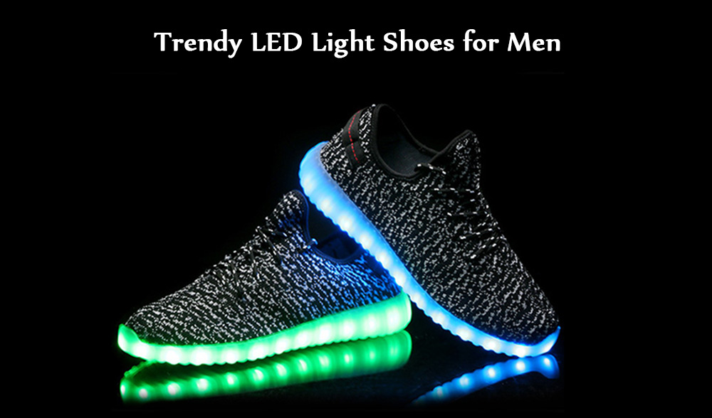 Light Up Shoes Black 42 Casual Shoes