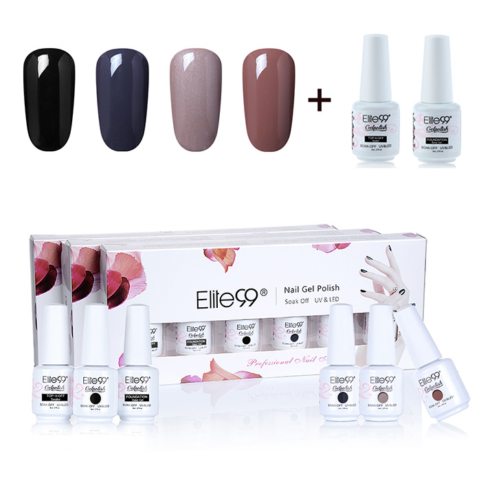 4 Deep Colors UV LED Soak Off Elite99 Gel Nail Polish Set - $8.54 ...