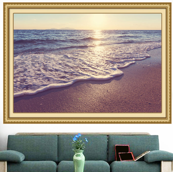 Beach Sea Waves Sunset Multifunction Decorative Wall Sticker