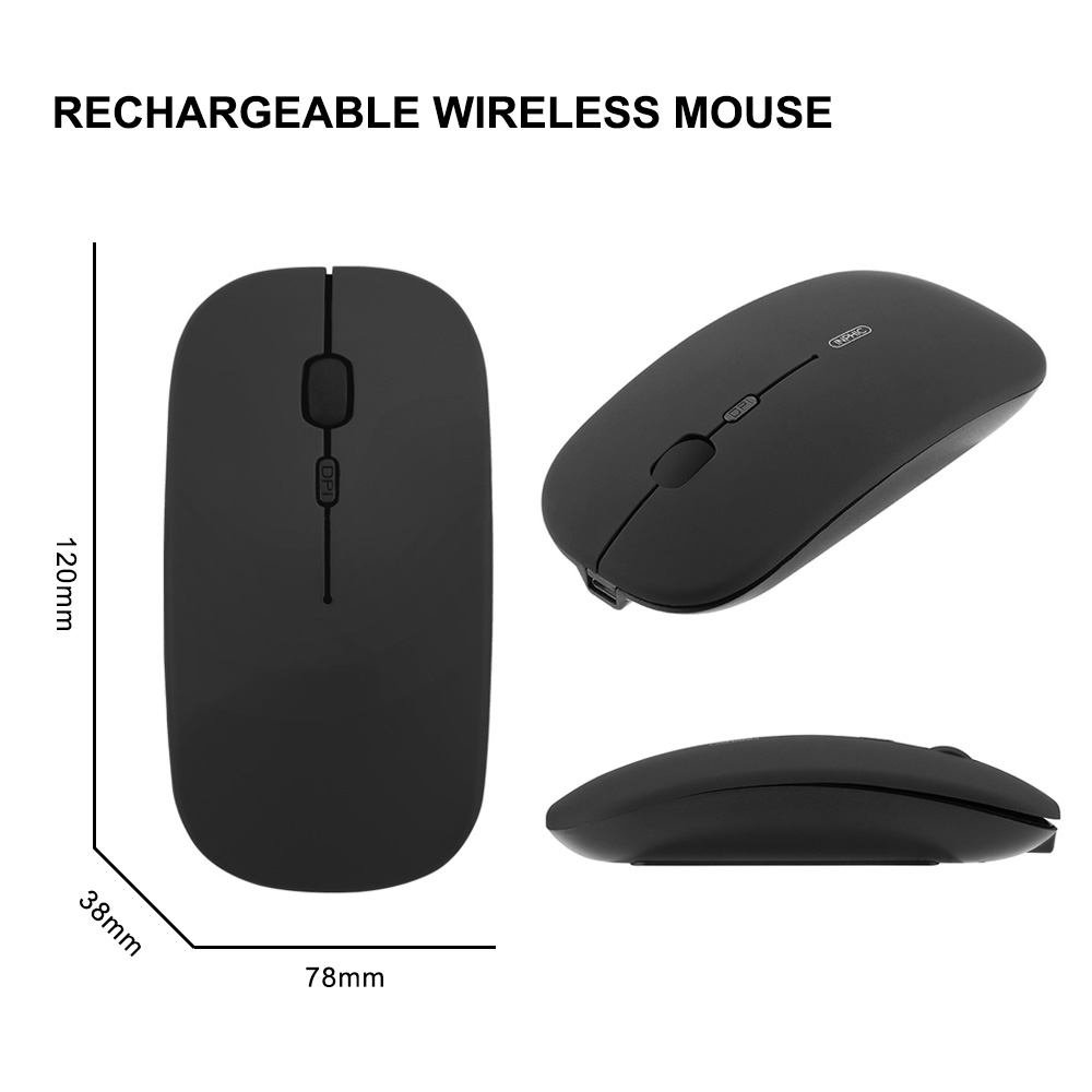 Inphic Ultra-thin Portable Mobile Wireless Mouse For Laptop