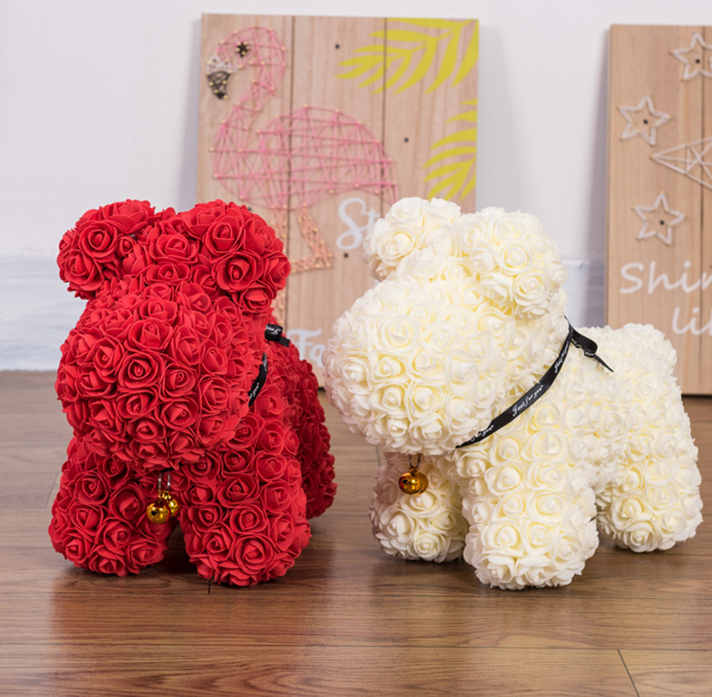 3D Roses Puppy Doll Gift- Red 39*31*23cm