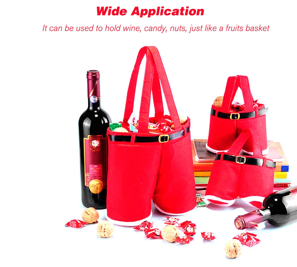 Christmas Red Wine Bag Candy Gift Bag - $2.36 Free Shipping GearBest.com