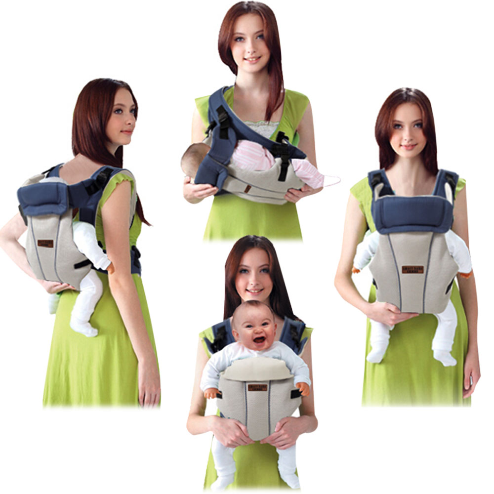 Multifunctional Breathable Adjustable Buckle Cotton Infant Babies Carrier