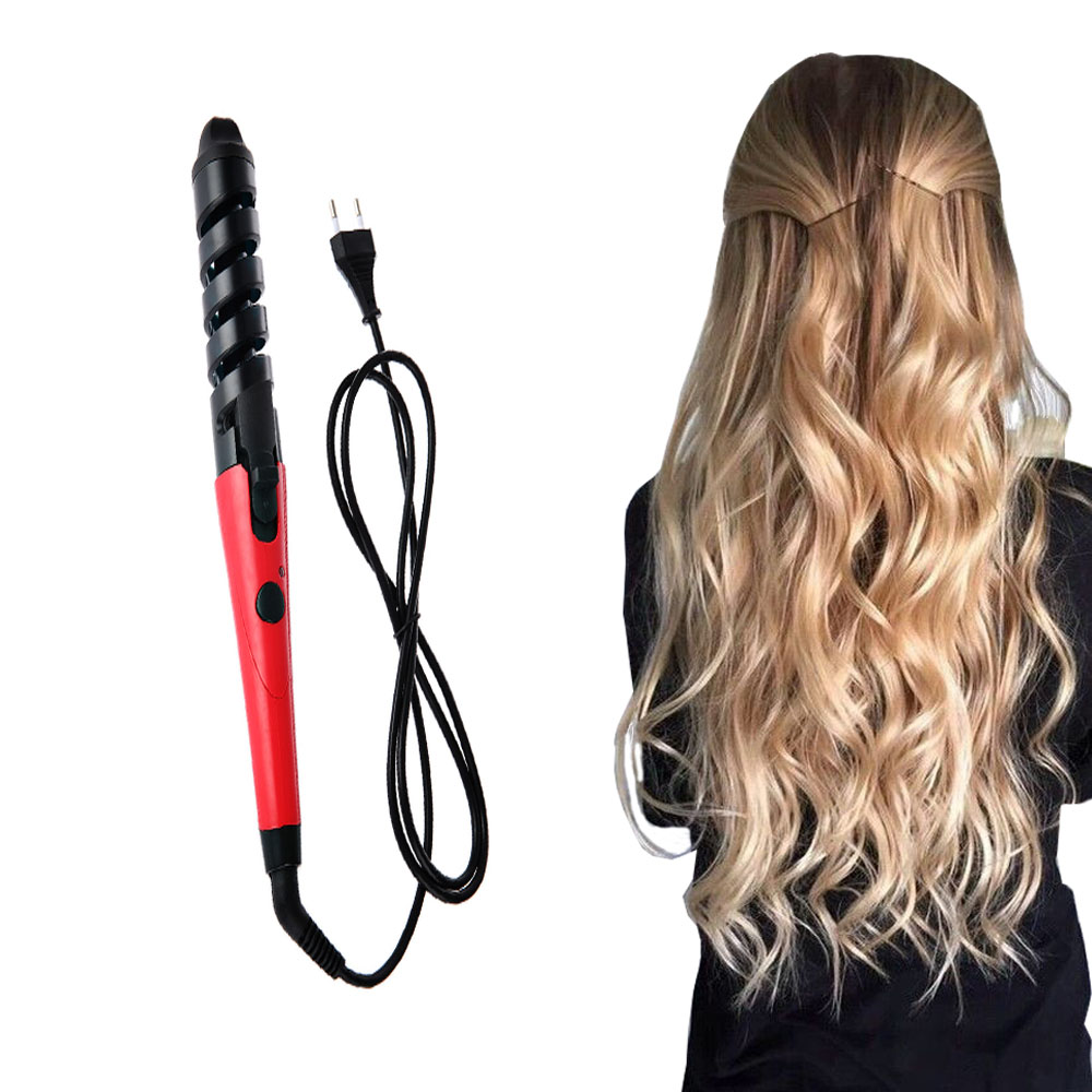 in style hair curler electric magic wavy hair curling iron pro styling tool 6969