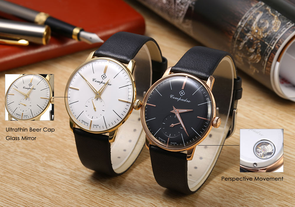 Compadre 1700a 8012g Movt Male Mechanical Seagull Watch OPXZkuiT