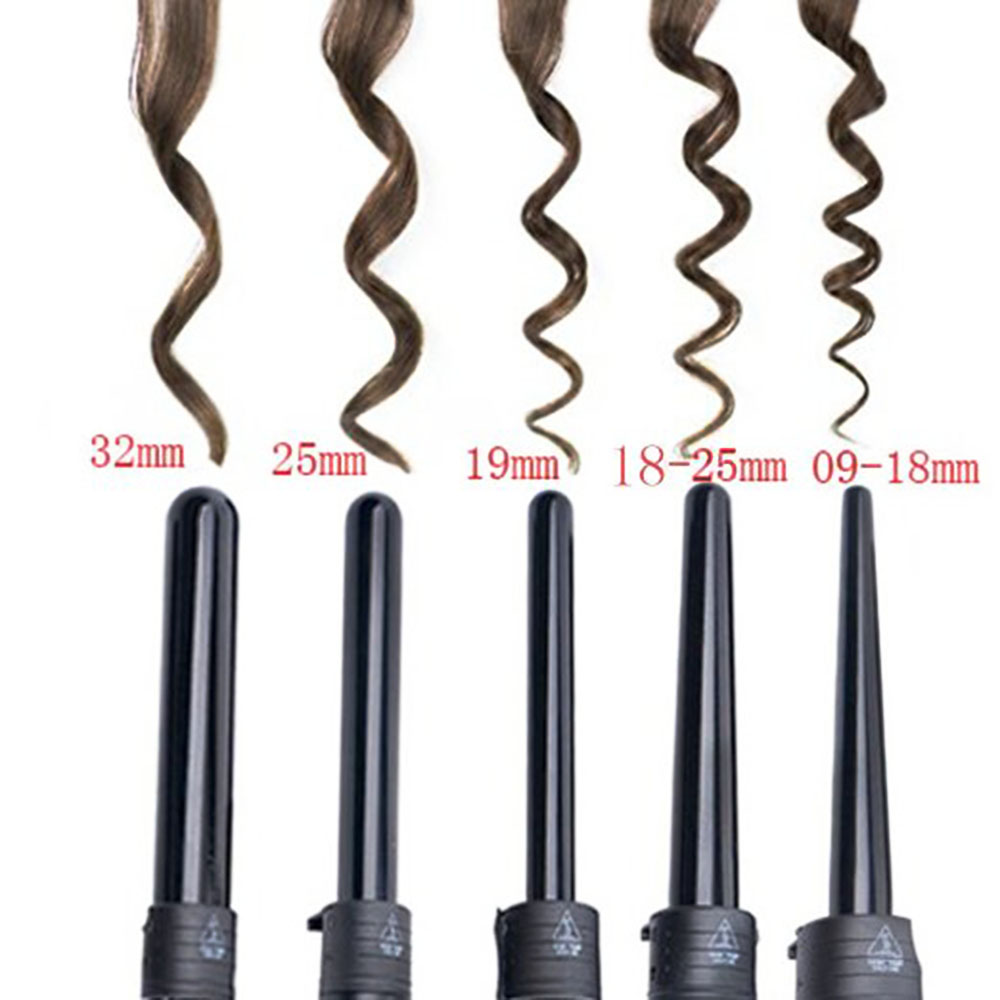 Hair Curling Iron Multi-size Roller Heat Resistant Glove Styling ...