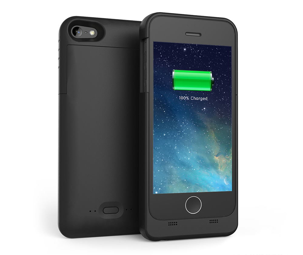 newest ae038 ed013 Maxnon M5 MFI 2200mAh Extra Battery Charge Case for iPhone 5 / 5S / SE