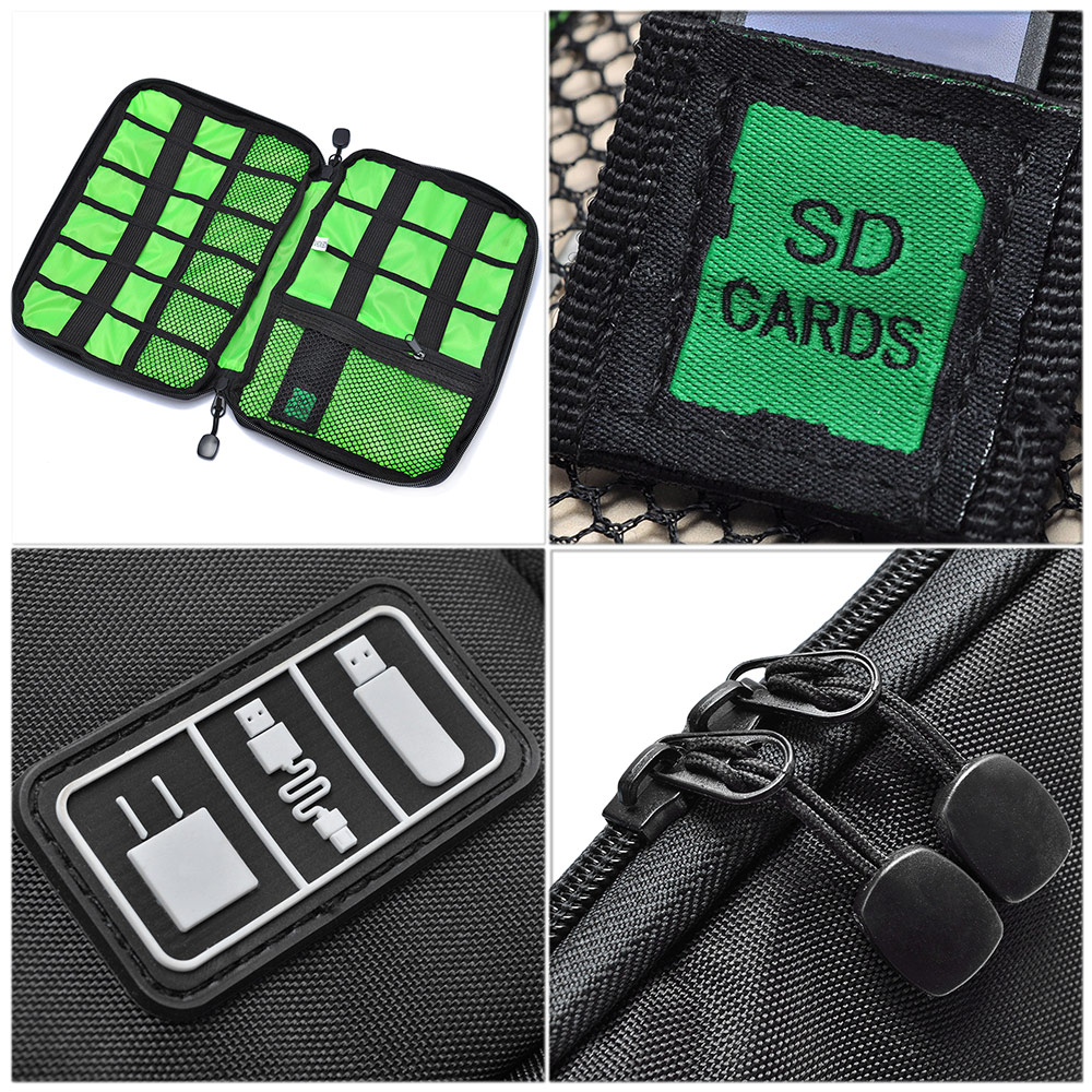 Waterproof Travel Carry Protective Pouch Case Nylon Bag for Electronics Digital Accessories