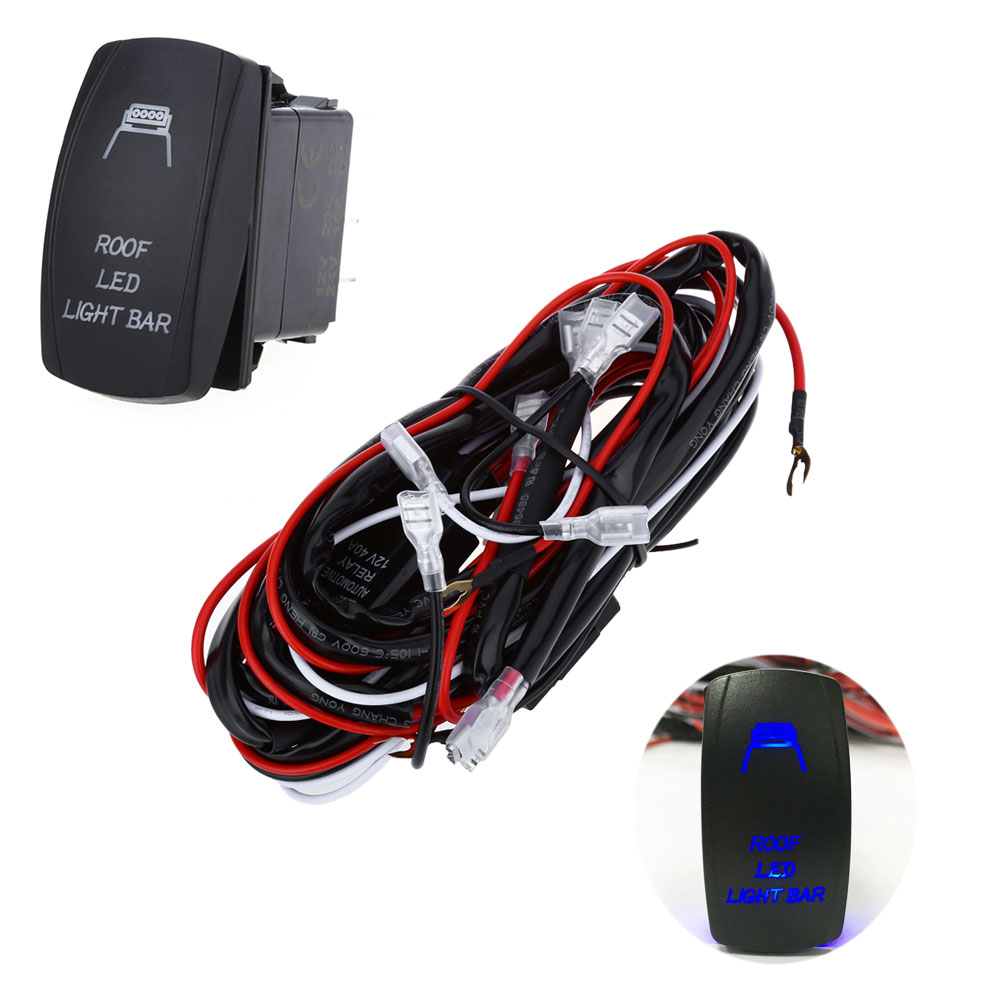 Relay Wiring Harness Kit Led Light Bar Laser Rocker Switch 1539 Diagram Mini Package Contents 1 X On Off