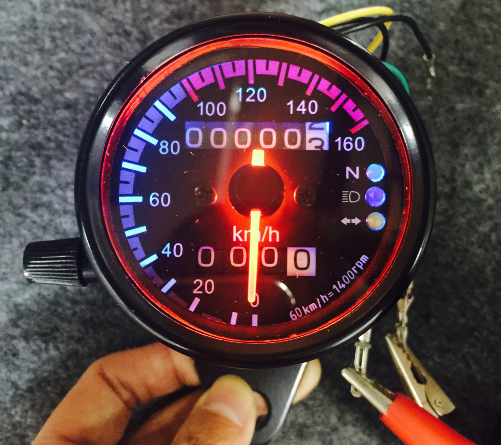 B733 Z Motorcycle Speedometer Odometer Tachometer 2654 Free Pro Cycle Tach Wiring Package Contents 1 X Bracket
