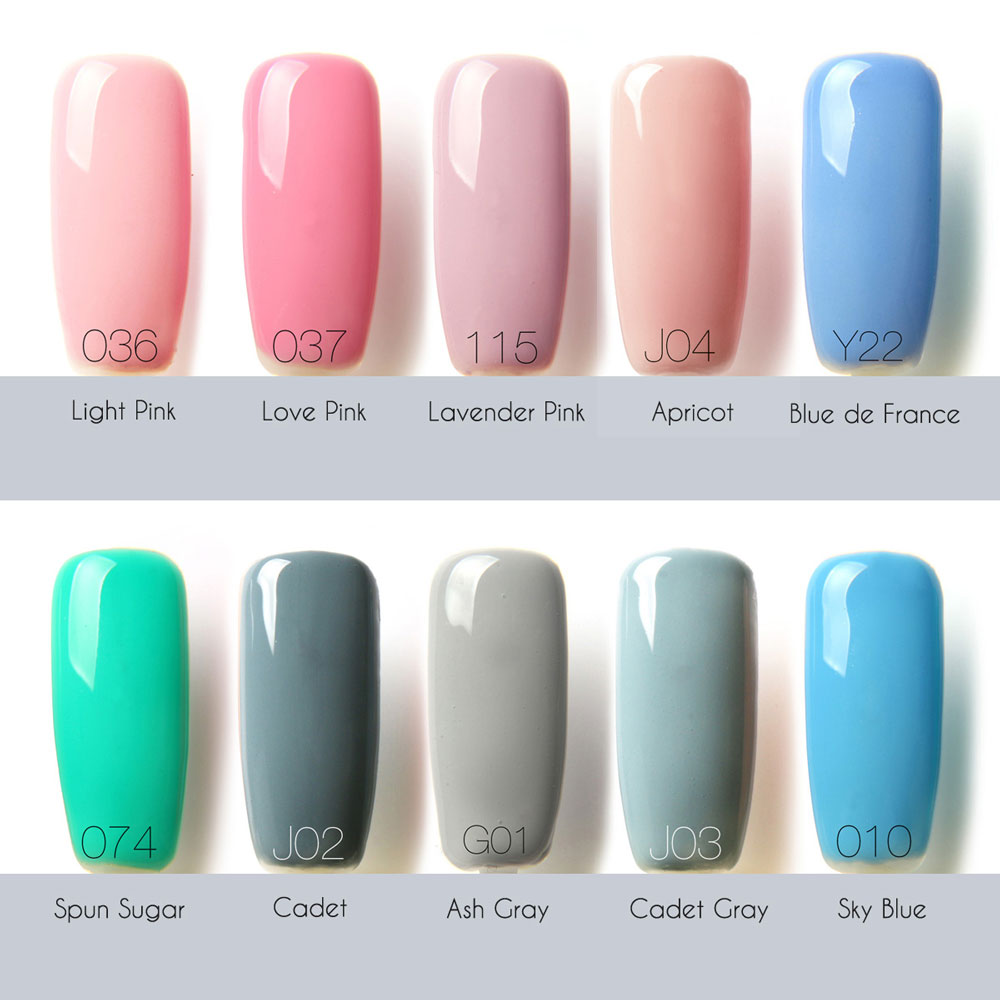 Lasting Bright Colorful LED 32 Colors UV Gel Manicure Nail Polish