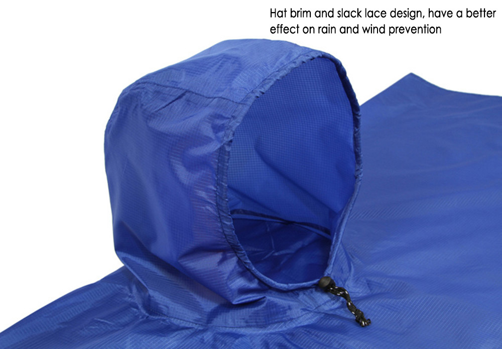 AOTU Multifunctional Raincoat Cape Cover Poncho Cloak Mat Climbing Kit