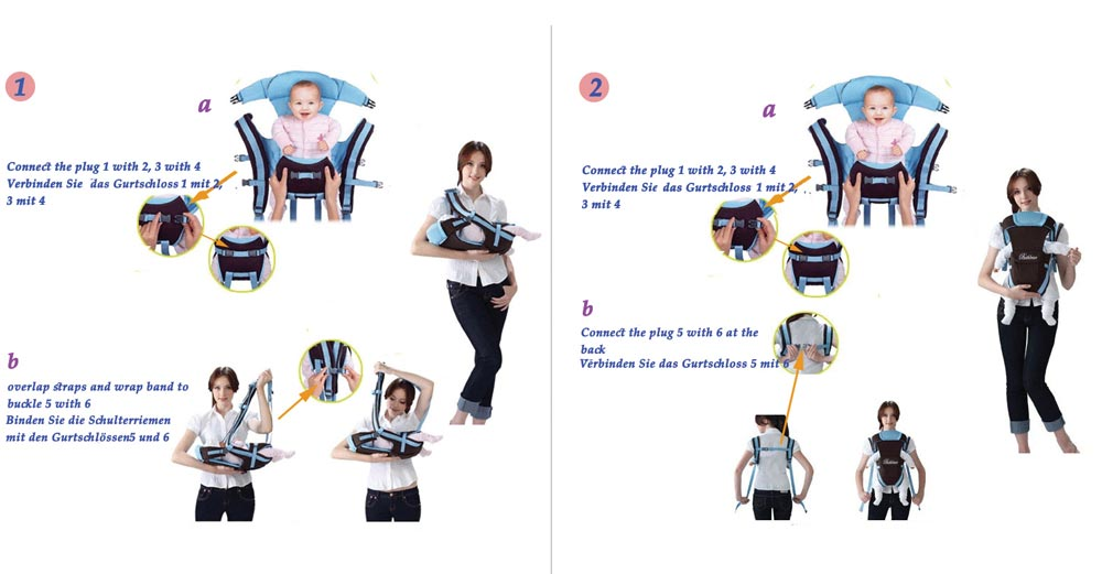 Bethbear Multifunctional Ventilate Adjustable Buckle Mesh Wrap Baby Carrier Backpack