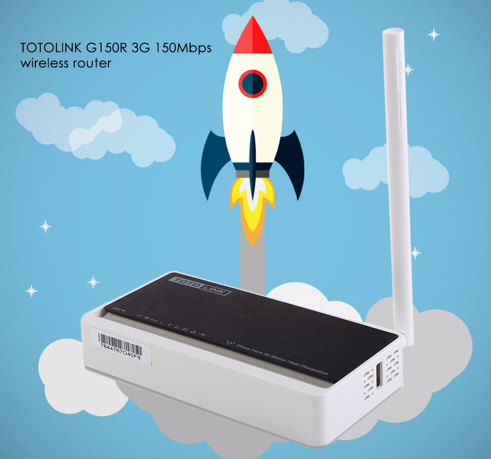 TOTOLINK G150R Wireless 150Mbps 3G WiFi Router / Repeater Support USB 3G Broadband Functions with Hot Release Design