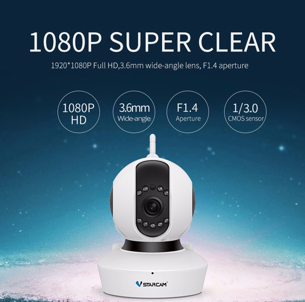 Have An Inquiring Mind 1080p Hd Network Camera Two-way Audio Wireless Network Camera Night Vision Motion Detection Camera Robot Pet Baby Monitor Perfect In Workmanship Baby Monitors Security & Protection