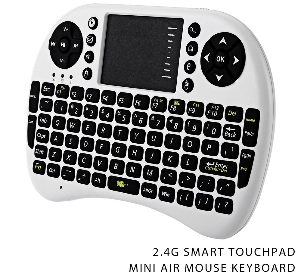 Color : Black UKB-500-RF 2.4GHz Mini Wireless Keyboard Mouse Combo with Touchpad /& USB Receiver English Keyboard//Russian Keyboard White