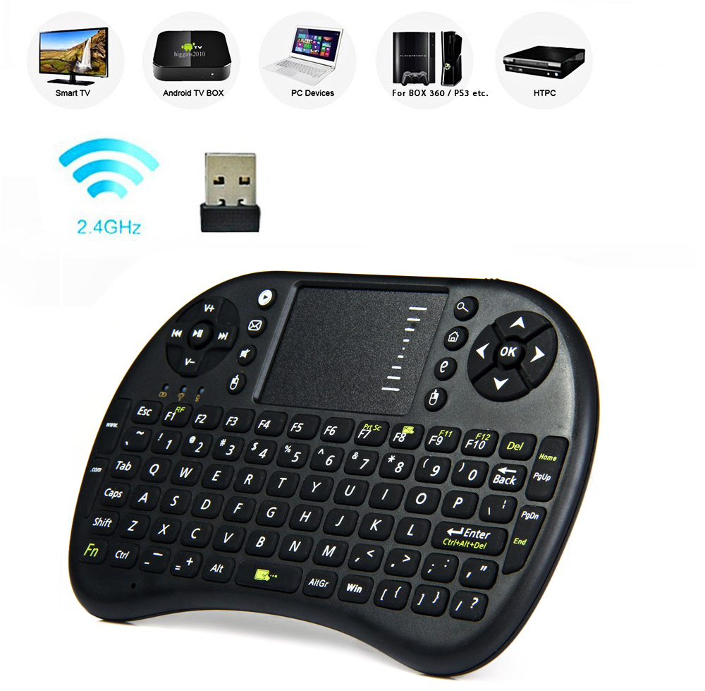 Ukb 500 Rf 24ghz Mini Wireless Keyboard With Touch Pad Led Usb Package Contents 1 X Mouse Touchpad Combo Receiver Battery Cable English User Manual