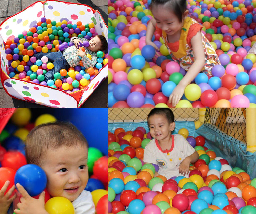 100pcs Baby Water Pool Ocean Wave Ball Toy- Colormix 5.5cm