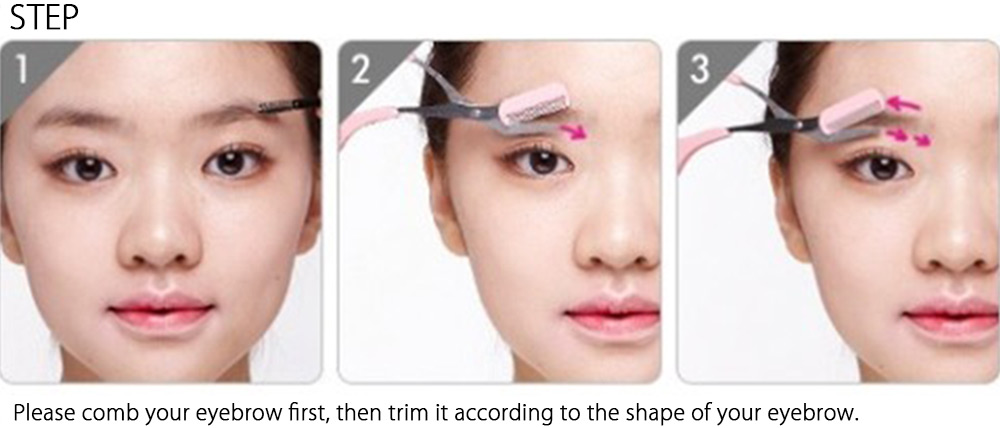 Women Eyebrow Trimmer Groomer With Comb Cutting Scissor 130 Free