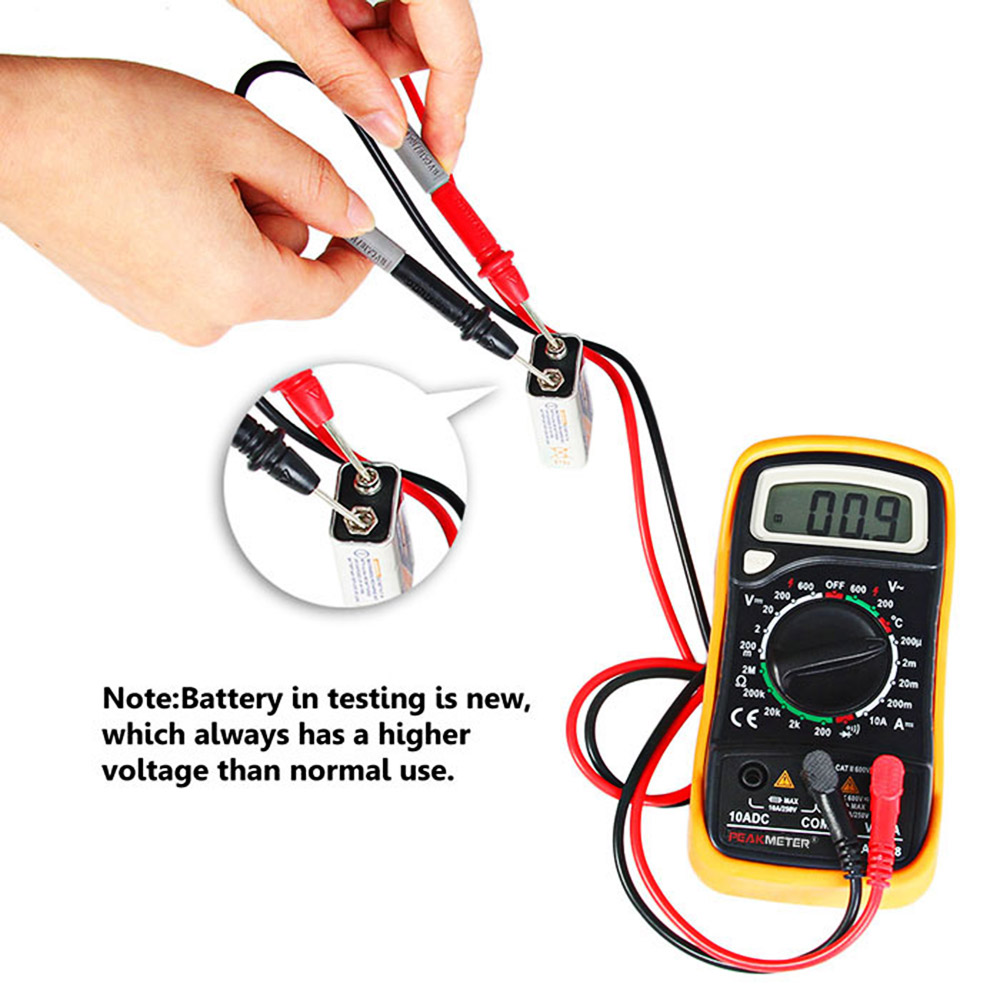 Peakmeter Mas838 Digital Multimeter 1903 Free Shipping Electrician Testing Doorbell Transformer With Package Contents 1 X 2 Test Lead Temperature English User Manual