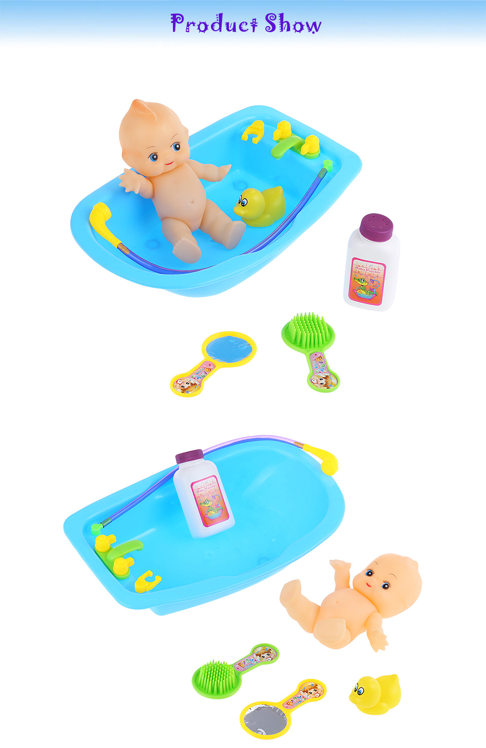 Simulated Infant Bathing Bathtub Toy - $5.66 Free Shipping|GearBest.com