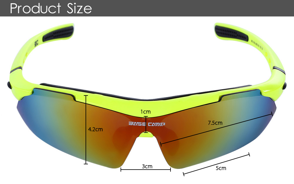 9bd2c801b8b Basecamp Polarized Glasses with Three Interchangeable Lenses ...