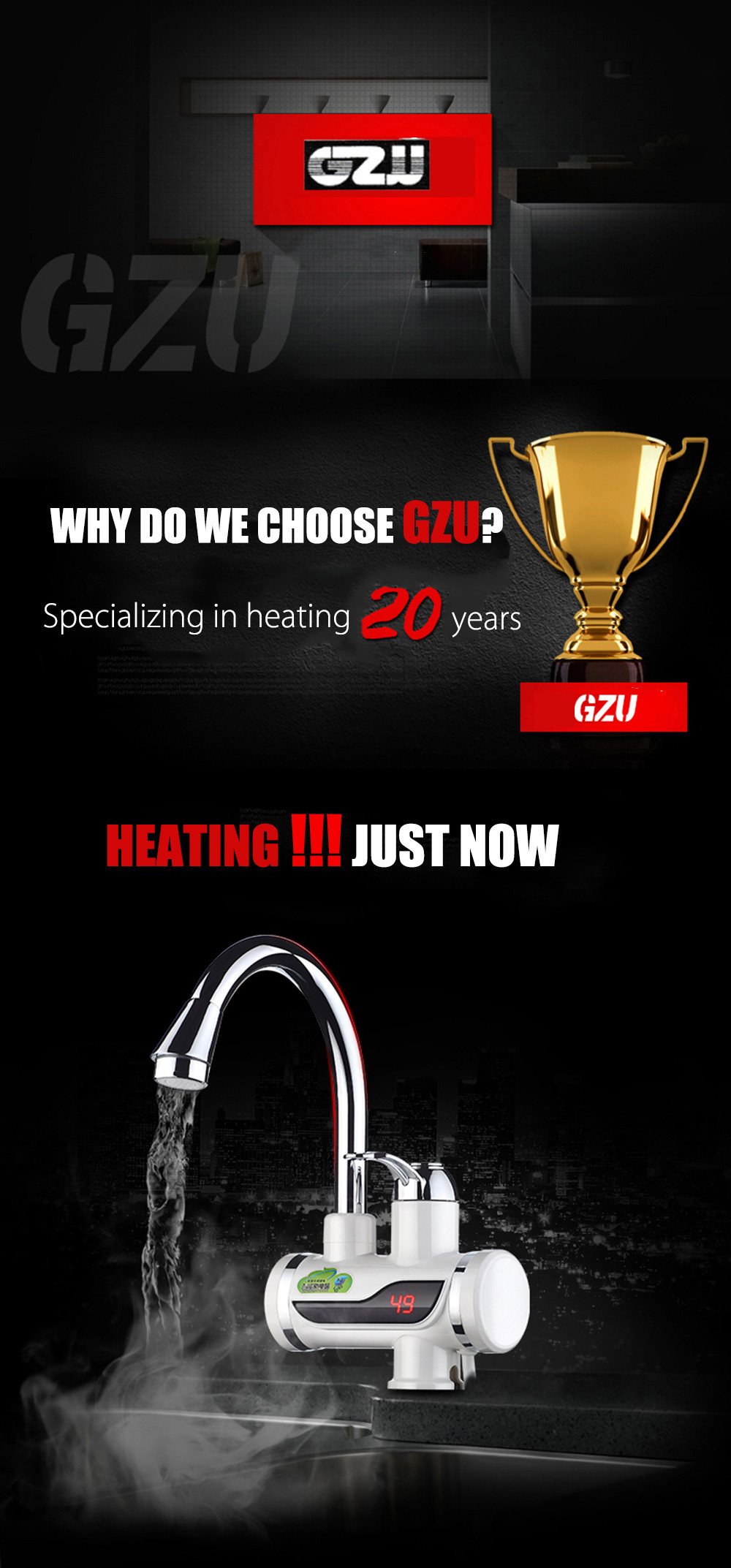 GZU ZM - D4 Tankless Water Heater Faucet - $44.22 Free Shipping ...