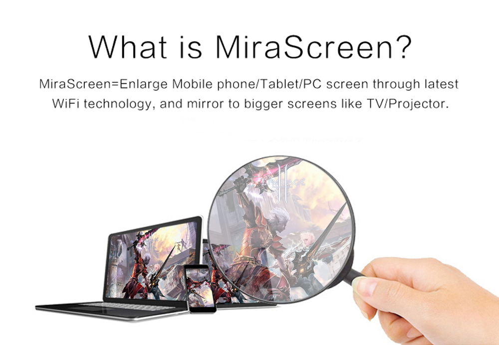 AnyCast DLNA Airplay WiFi Display Miracast TV Dongle