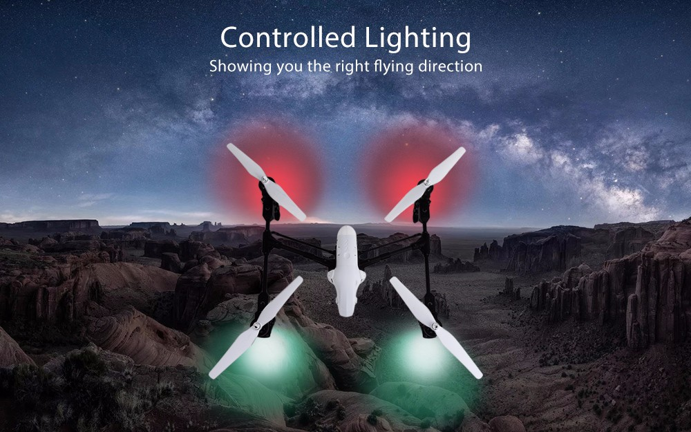 Q333 Professional RC Drone Built-in LED Lights