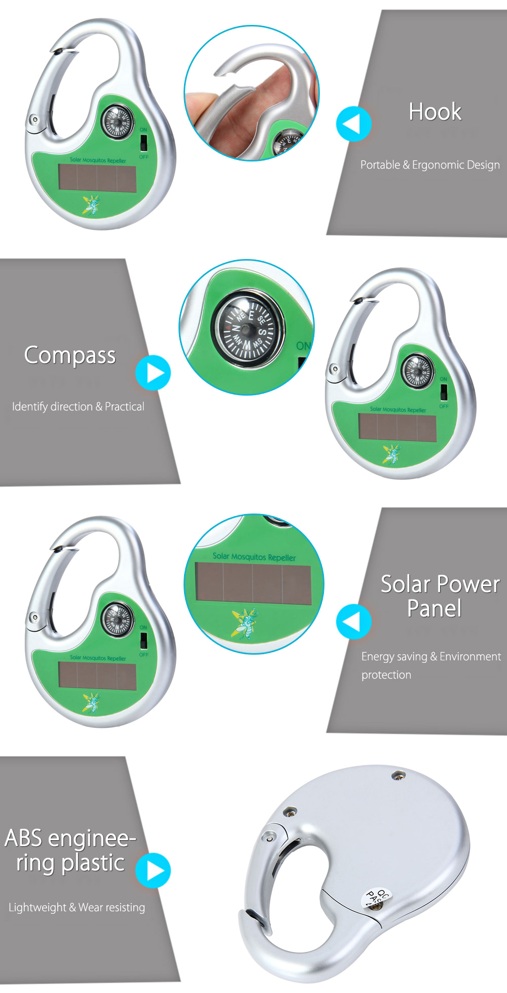 Digisonic 12d8 Solar Mosquito Repeller 699 Free Shipping Power Saver Circuit Package Contents 1 X Powered Sonic Insect With Compass English User Manual