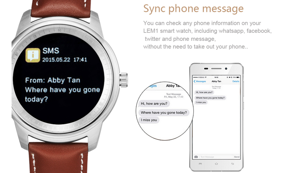 LEMFO LME1 MTK2502 Smart Bluetooth 4.0 Watch