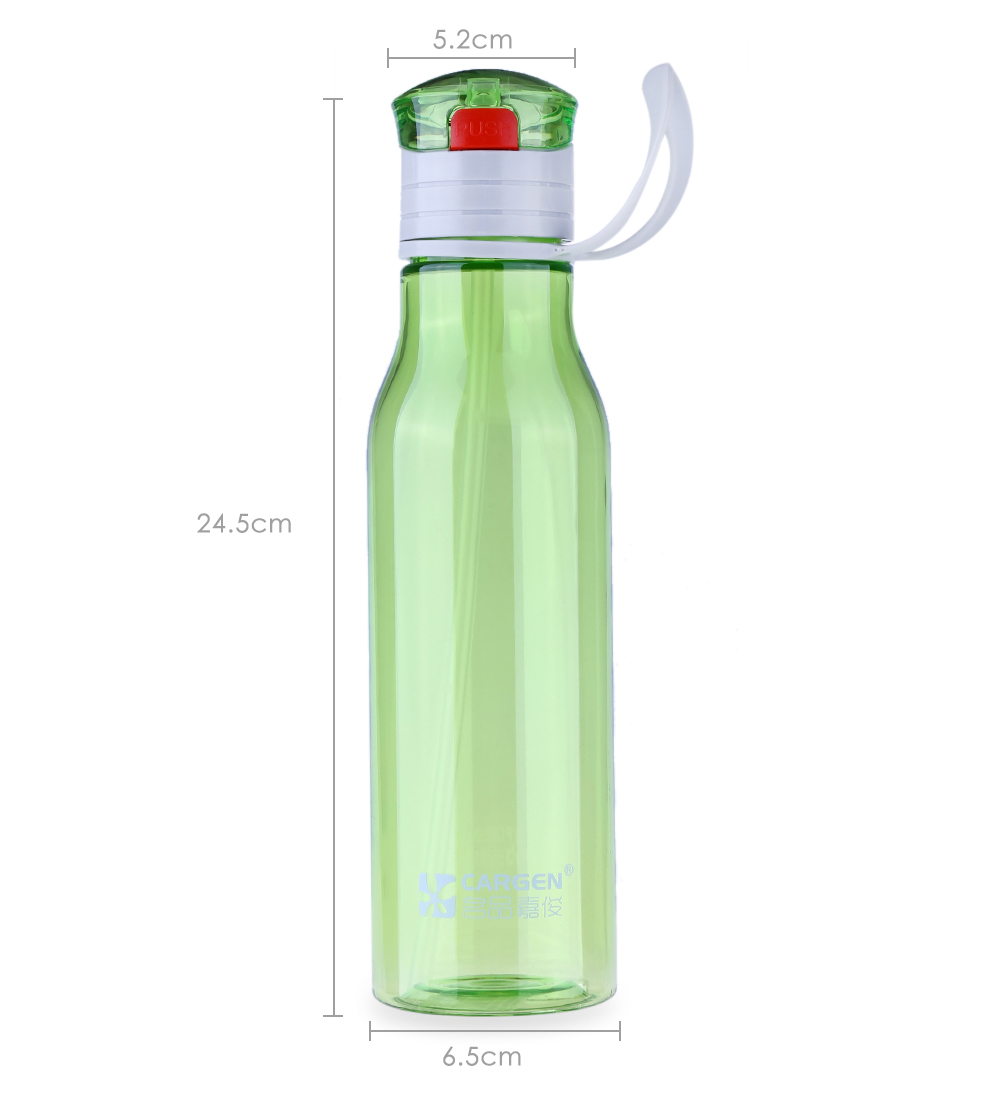 Cargen DC600 600ML Portable Travel Straw Water Cup Bottle with Push Button