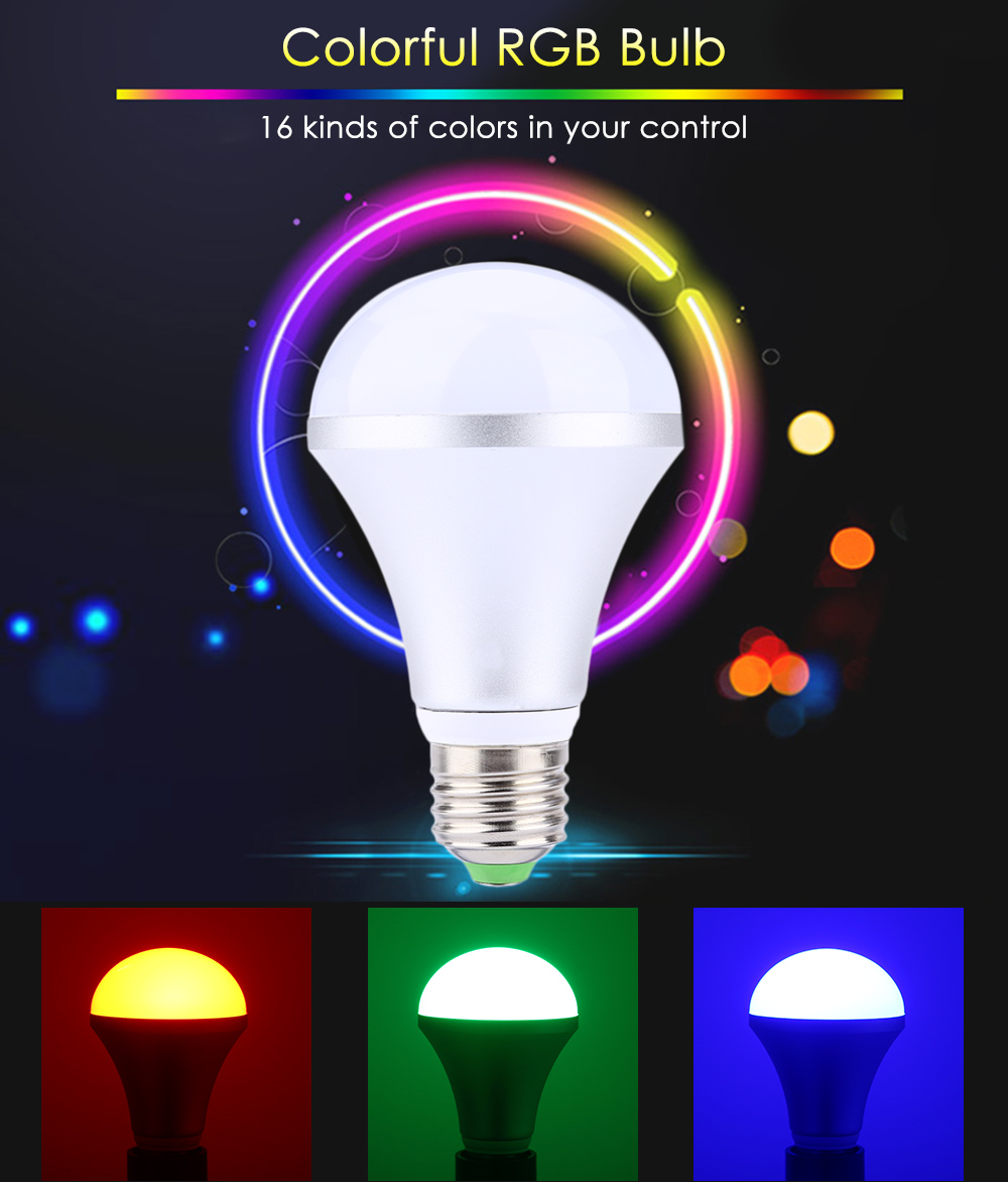 E27 110 220v 10w 1000lm Led Bulb 1019 Free Shipping Simple Rgb Candle Circuit With The Use Of Pic12f675 16 Colors Changing Dimmable Light Remote