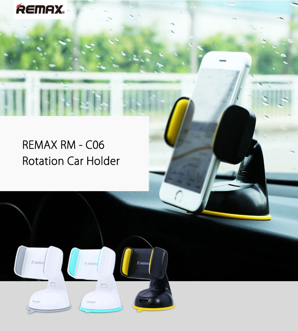 REMAX RM - C06 Car Mount Holder Stand Cradle 360 Degree Rotating Strong Suction