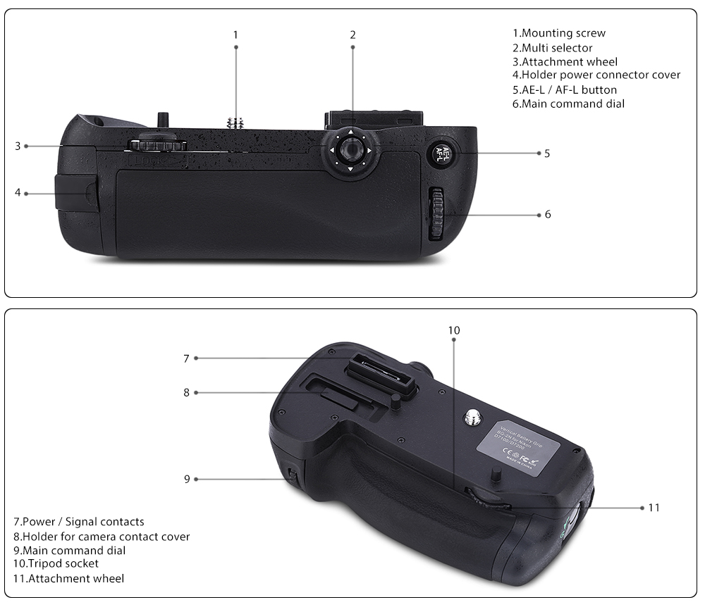 Veledge BG 2N Camera Battery Grip Holder Handle for Nikon D7100