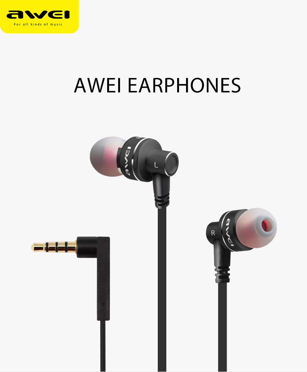 Awei ES 10TY Noise Isolation In-ear HiFi Earphones Headphones