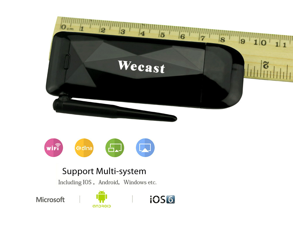 Wecast E3 DLNA Airplay WiFi Display Miracast TV Dongle HDMI Receiver Mini Android TV Stick Full HD