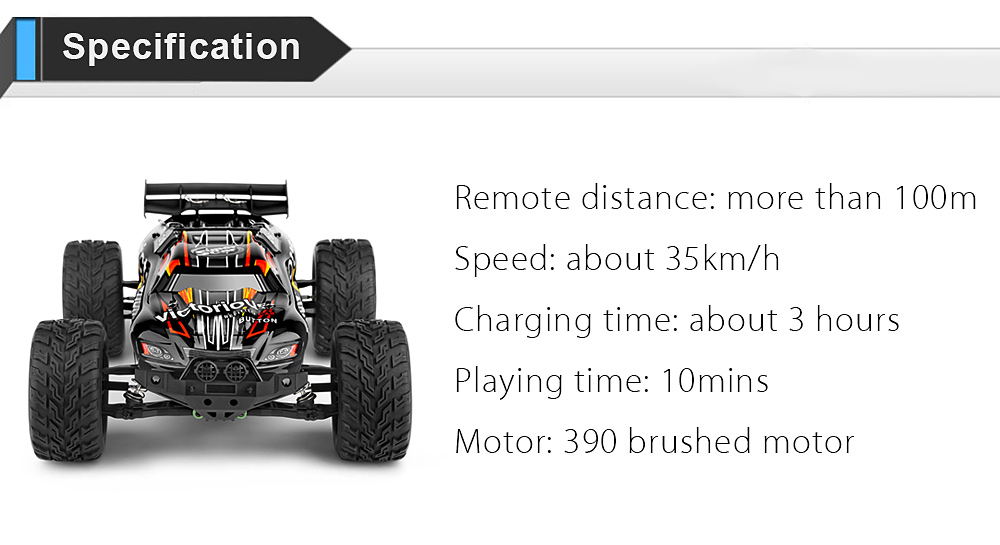 WLTOYS A333 1:12 4CH Scale 2.4G 2WD 35km/h Remote Control Competition Car RTR