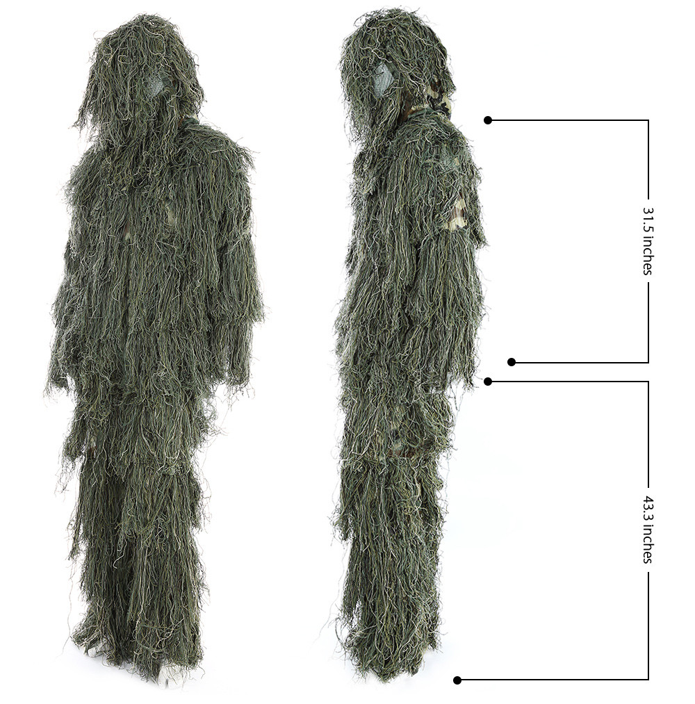 Hunting Woodland Camo Sniper Ghillie Suit Set - $61.28 Free Shipping ...