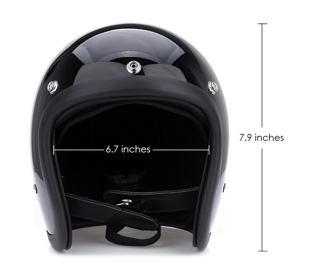 Motorcycle Motorbike Safety Retro Open Face Adjustable Helmet