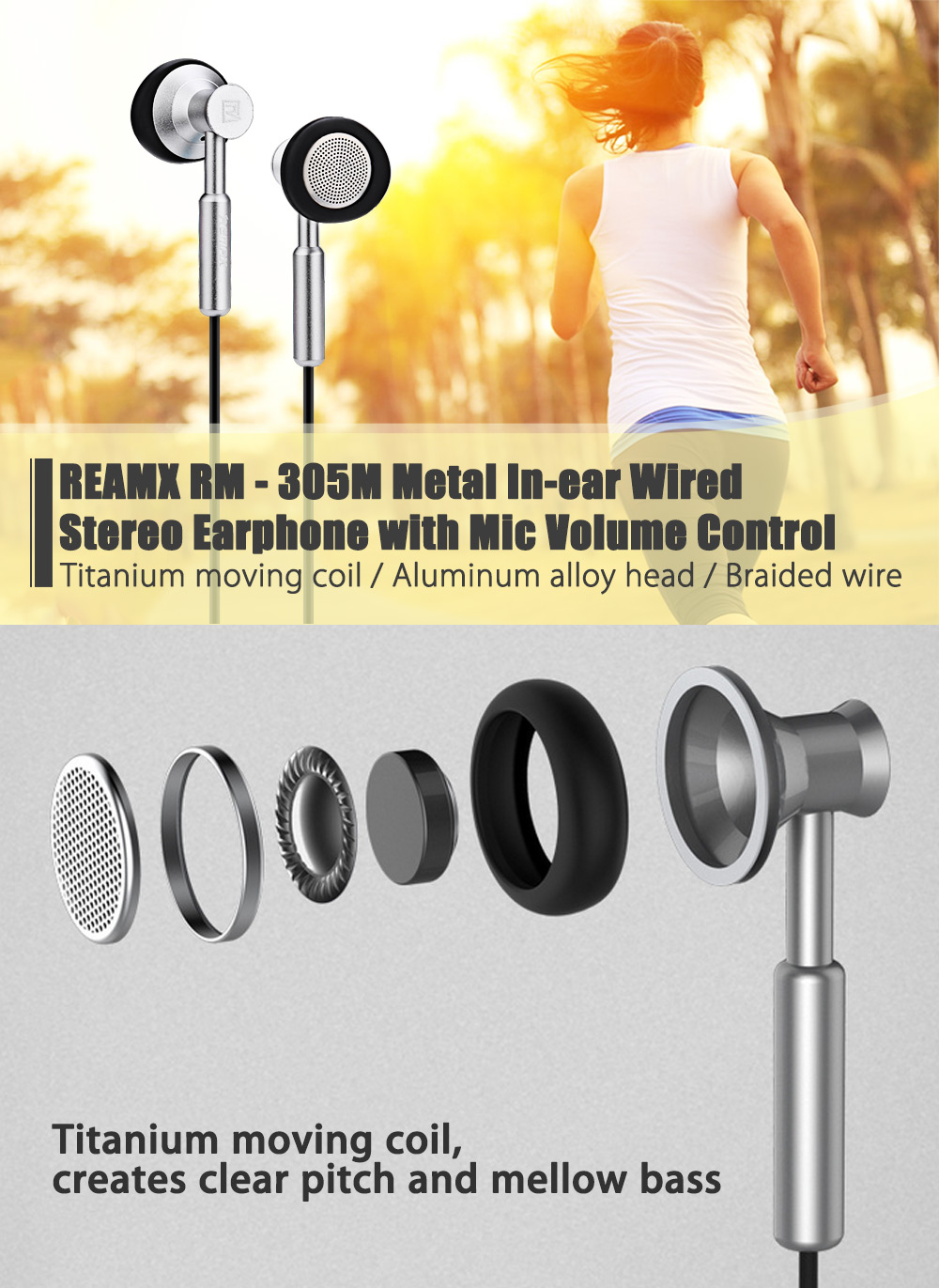 Reamx Rm 305m Metal In Ear Wired Stereo Earphone 1135 Free Handsfree Remax With Volume Control Original Package Contents 1 X Pouch Chinese And English User Manual