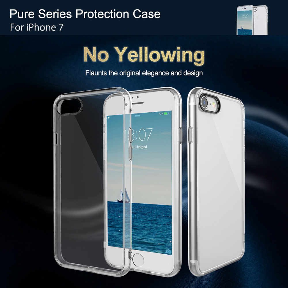 Rock Pure Series Pc Back Cover For Iphone 7 478 Free Shipping Flash Light Tube Bumper Original Case 6 6s Package Contents 1 X