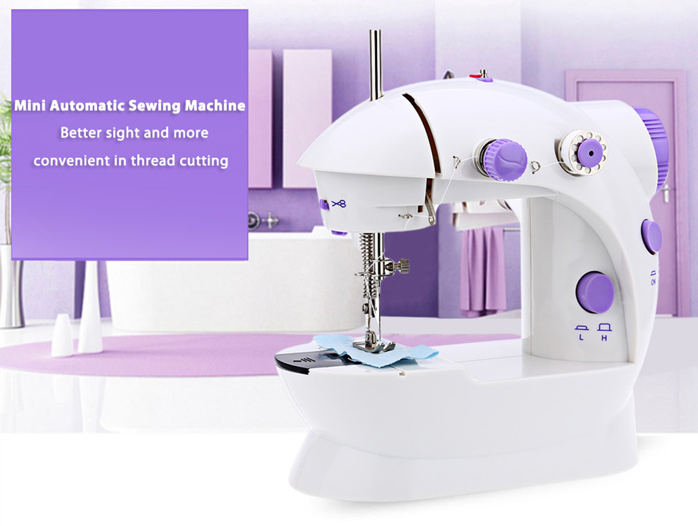Mini Double Speed Automatic Thread Sewing Machine with Light Awesome Mini Sewing Machine