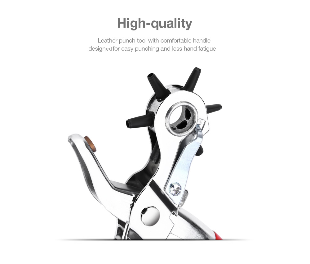 Have An Inquiring Mind Multifunction Metal Hole Punch Plier Revolving Leather Manual Punch Round Hole Punch Tool Set Household Leather Belt Puncher Office & School Supplies